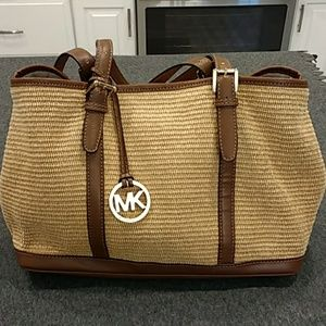 Michael Kors Woven Tan/Brown Bag